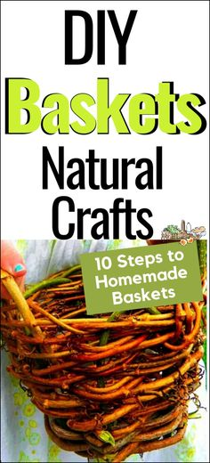 Tutorial: How to Make a Grapevine (or any vine) basket l Step by step instructions for making plant pots and baskets l Homestead Lady.com #handmade #homesteading #naturalcrafts #baskets Diy Crafts To Sell, Handmade Crafts, Crafts For Kids, Handmade Rugs, Adult Crafts, Fall Crafts, Wild Edibles, Handmade Headbands, Handmade Journals