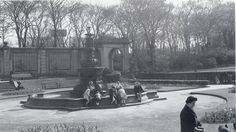 mansion B&W Historic.  Photos of The Mansion House St Helens. Victoria Park. (Cowley House). Doulton's Terracotta Fountain.