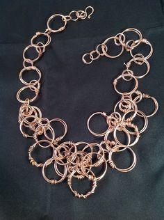 Necklace of Bronze wire.  Jude Carmona - Jude Designs