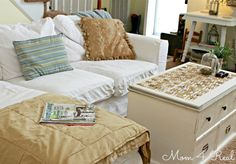 Make a unique coffee tables using wine corks and an old window at www.mom4real.com