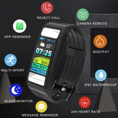 Toleda T9 Bodyfat monitor calories gym watches smart heart rate wristband fitness tracker new product ideas 2019  Price: 81.88 & FREE Shipping  #fashion|#health|#beauty|#fitness Product Ideas, New Product, Gym Products, Smart Bracelet, Heart Rate, Fitness Tracker, Gym Workouts, Monitor, Free Shipping