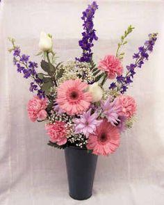 Purple, Pink, & White Cemetery vase  $45.00  2013