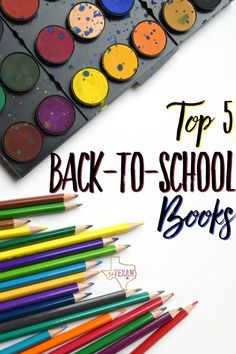 Top 5 Back to School Books-- The perfect list of books for back to school jitters this year!
