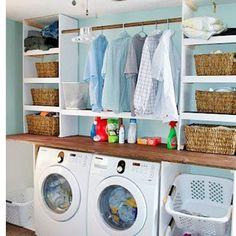 WEBSTA @ eucaprichoeorganizo - Inspiração para lavanderia.Imagem via #pinterest#inspiração #pinterest #organizar #lavanderia #áreadeserviço #eucaprichoeorganizoinspiração