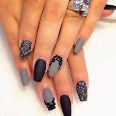 Matte gray & black