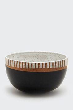 Small Black & White Bowl by Natan Moss | Lawson Fenning