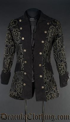Black Jacquard Pirate Jacket
