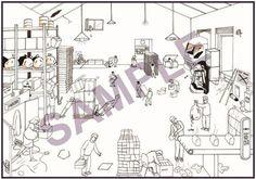 Health and safety cartoon