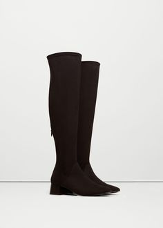Over the knee heel boots - Shoes for Woman | MANGO USA