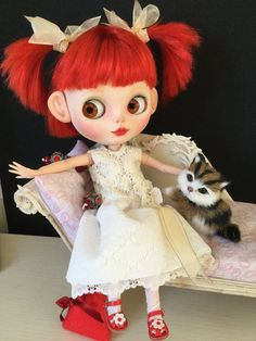 SOLD to AMANDA OOAK Custom Blythe Art Doll Maddie by Bravuradolly