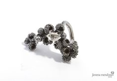 Anillo. Plata con Diamante Herkimer  Colección SIEGA