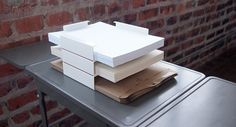 Stackable Paper Tray - White