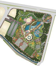 Urban Park Landscape Design Plan - marita home Landscape Architecture Drawing, Landscape Design Plans, Architecture Plan, Park Landscape, Urban Landscape, Ing Civil, Parque Linear, Urban Design Plan, Urban Park