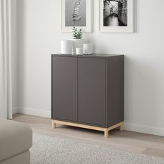 EKET Storage combination with legs, dark gray, Width: 27 - IKEA At Home Furniture Store, Modern Home Furniture, New Furniture, Trofast Ikea, Ikea Eket, Ikea Playroom, Painting Ikea Furniture, Flexible Furniture, Dining Room Design