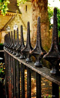 Wrought iron fence. York, England.