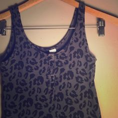 Size 4 | H&M Cheetah Print Bodycon Dress Stretchy and comfy also subtly sexy dark blue and black cheetah print dress. Can be dressed up or dressed down! H&M Dresses Mini