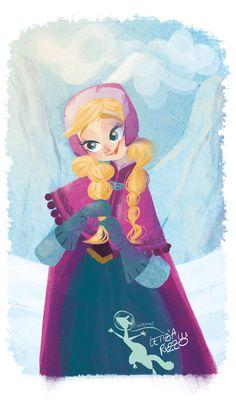 Anna From Frozen Fan Art   Disney Frozen Anna