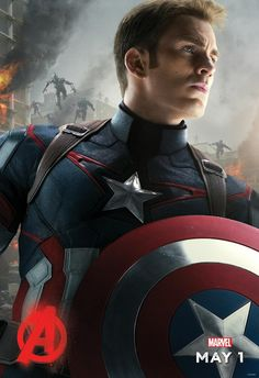 Chris Evans As Captain America Poster For The Avengers: Age Of Ultron ~ ♥♥♥