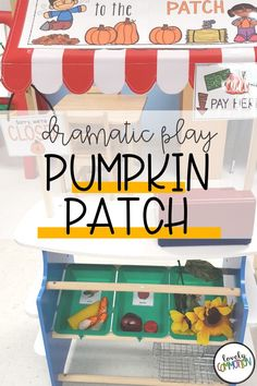 Creating a pumpkin patch in your dramatic play center is perfect for your fall preschool and pre-k classrooms. Fall Preschool, Preschool Learning Activities, Preschool Classroom, Kindergarten, Classroom Organization, Organization Ideas, Dramatic Play Centers, Play Centre, Early Education