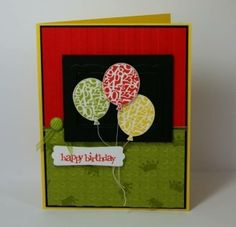 Balloons birthday card by hues