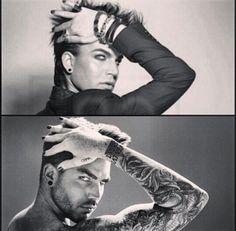 Then and Now. Hot now.he just keeps getting hotter Pop Punk, Grunge, Cute Emo Boys, Adam Style, Normal Guys, Queen Band, Janet Jackson, Bradley Cooper, Adam Lambert
