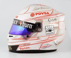 Grosjean Helmet Bahrain 2014