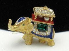 Vintage Ciner Howdah Elephant Brooch  http://stores.ebay.com/atouchofrosevintagejewels