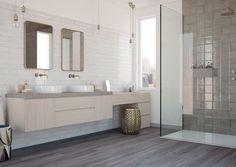 "Alchimia White 3""x12"" wall tile Diy Interior, Black Interior Doors, Kitchen Wall Tiles, Ceramic Wall Tiles, Bathroom Wall, Bathroom Ideas, Tiles London, Glazed Walls, Tiles For Sale"