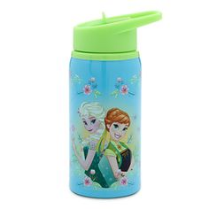 Disney Frozen Fever Water Bottle - Small | Disney StoreFrozen Fever Water Bottle - Small - Keep thirst at bay with this <i>Frozen Fever</i>-inspired floral-patterned water bottle. Anna and Elsa's stainless steel canteen is perfect for your child on-the-go.