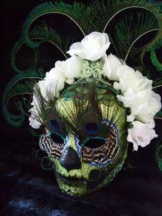 Itzam Ye Day of the Dead, Dia de Los Muertos, inspired paper mache mask. on Etsy, $740.00 Fabulous!