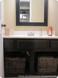 Doors Off The Bathroom Vanity Love Baskets