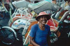 Indonensien; Yogyakarta; Rikschafahrer