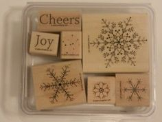 The Snowflake Spot Stampin' Up Retired Wood Mount   eBay
