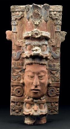 SUPPORT D'ENCENSOIR Culture Maya, région de Palenque, Chiapas, Mexique Classique, 600 à 900 après J.-C.