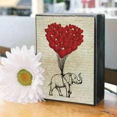 Your home should express your style. Spruce up your home decor with a fabulous Elephant Love Decorative Box Sign.