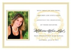 Acanthus Horizontal - Bright Gold & Black Photo Graduation Cards by Noteworthy Collections. $50.00. Acanthus Horizontal - Bright Gold & Black Photo Graduation Cards Graduation Photo Announcements by Noteworthy Collections