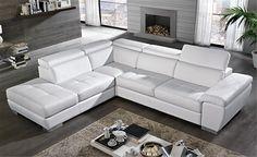 Mondo Convenienza - divano angolare bianco Viola 233, Global Design, Tiny House, New Homes, Living Room, Interior Design, Furniture, Home Decor, Relax