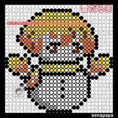 Perler Beads, Pixel Art, Cross Stitch, Anime, Character, Kites, Punto De Cruz, Dots, Seed Stitch