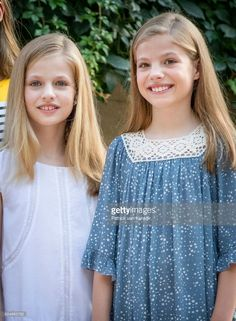 Princess Leonor of Spain and Princess Sofia of Spain attend the summer photocall on July 31, 2017 in Palma de Mallorca, Spain.