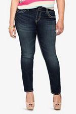 Silver Jeans - Suki Dark Wash Skinny Jeans from torrid.