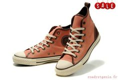 huge selection of 4cb61 fa2ba Pink Converse Chuck Taylor All Star D-Ring Natural Faint Ox High Top Canvas  Shoes