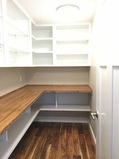 Cool pantry storage ideas kmart only in arendecor Kitchen Pantry Design, Kitchen Organization Pantry, Interior Design Kitchen, Pantry Cabinets, Organized Pantry, Kitchen Decor, Pantry Shelving, Pantry Storage, Shelves