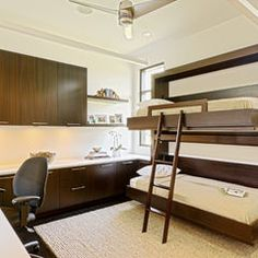 Wood Details Fold Away Bunk Beds In A Contemporary Home Office Design Ideas. Bedroom Gallery at Awesome Transformer Bed Images Ideas Murphy Bunk Beds, Bunk Beds Built In, Bunk Beds With Stairs, Cool Bunk Beds, Twin Bunk Beds, Kids Bunk Beds, Loft Beds, Contemporary Bunk Beds, Modern Bunk Beds
