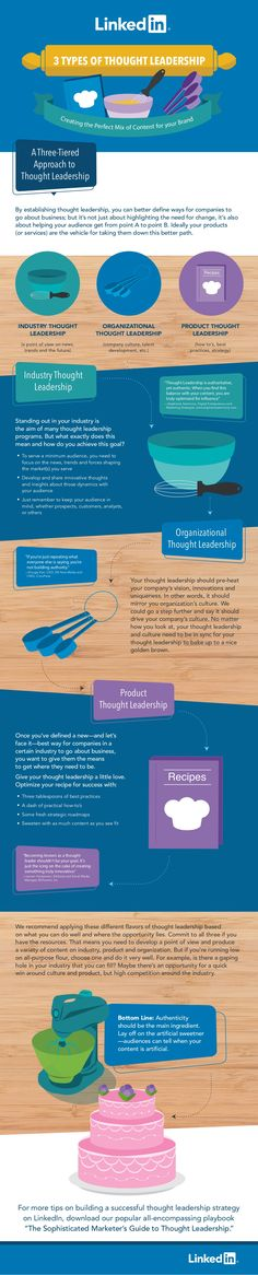 3 Types of Thought Leadership: Creating the Perfect Mix of Content for Your Brand - infographic