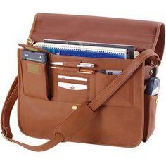 Executive Leather Briefcase Black - 640-BLACK-3
