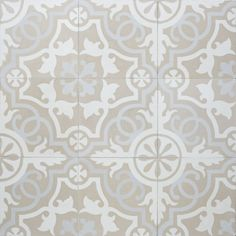 Maybe this more neutral tile instead of the higher contrast floor tile in the one bathroom example Sabine Hill Cement Tile Sevilla Concrete Tiles, Eclectic Floor, Bathroom Floor Tiles, Mediterranean Tile, Flooring, Tile Bathroom, Cement Tile, Encaustic Tile, Tile Patterns