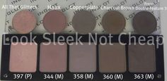 Inglot Dupes For Mac Eye Shadows. Inglot is cheaper than mac, highly pigmented and you get more product. 80s Eye Makeup, Makeup 101, Eye Makeup Steps, Makeup Guide, Cute Makeup, Beauty Makeup, Eyeshadow Dupes, Drugstore Makeup Dupes, Beauty Dupes