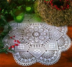 Handmade Round Crochet Doily, White, Crochet Table Center, Victorian, Cottage Chic $45 via @Shopseen