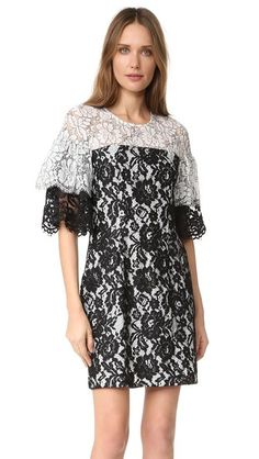 Black Halo Farrow Lace Dress