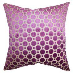 "Kostya 18"" Velvet Pillow in Magenta - Signs of Spring: Crocus on Joss & Main"
